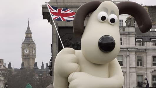 A giant inflatable Wallace from the Wallace & Gromit