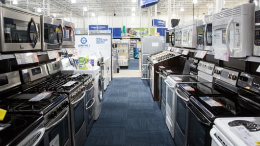 Durable goods on display at Best Buy.