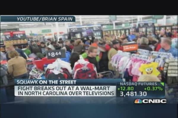 Wal-Mart television melee