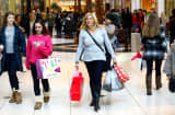 Shoppers at Somerset Collection shopping mall in Troy, Mich.