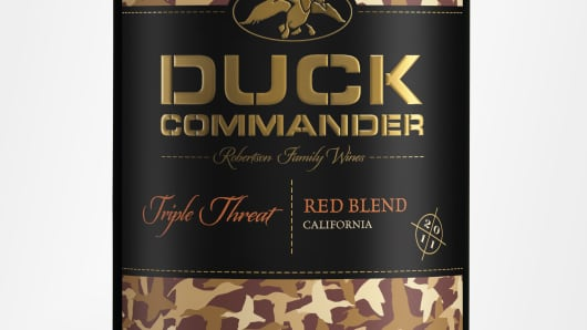 The first Duck Commander bottles produced are priced at less than $10.