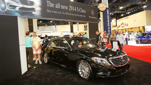 A 2014 Mercedes-Benz S-Class at the 2013 International Auto Show in Miami