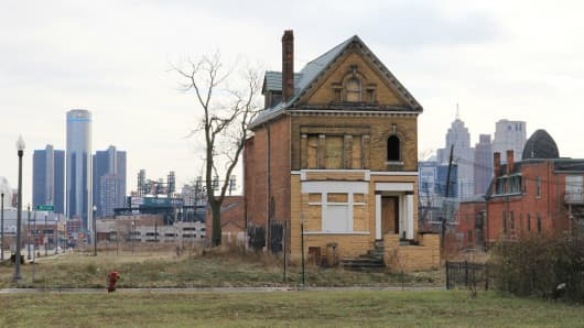 Detroit on the eve of the city's bankruptcy decision on Dec. 02, 2013.