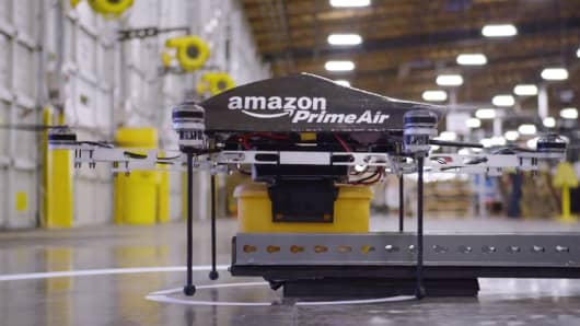 Amazon Prime Air drone delivery.