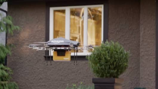 Amazon delivery via Prime Air drone