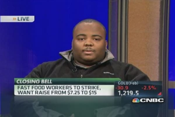 Fast food workers & a living wage