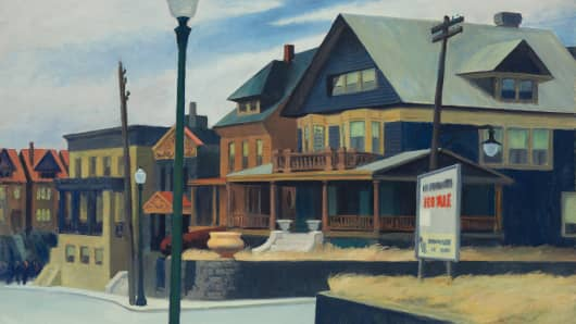 "Edward Hopper's ""East Wind Over Weehawken"""