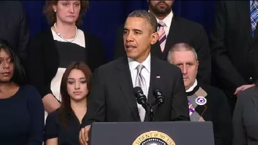 President Barack Obama speaks on December 3, 2013.