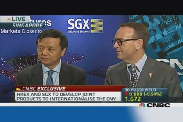 HKex,SGX collaborate on yuan internationalisation
