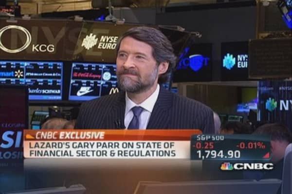 Lazard's Gary Parr: Volcker Rule is too complex