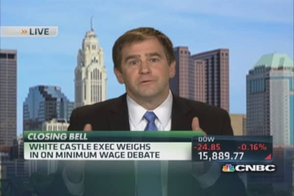 White Castle exec on minimum wage debate