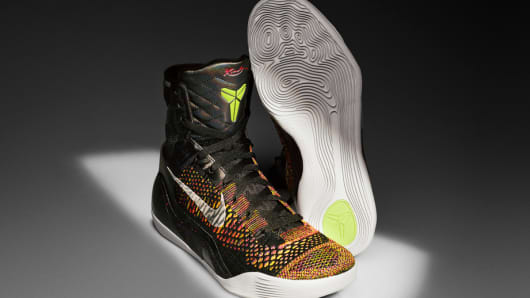 "The ""Kobe 9"" basketball shoe, from Nike."