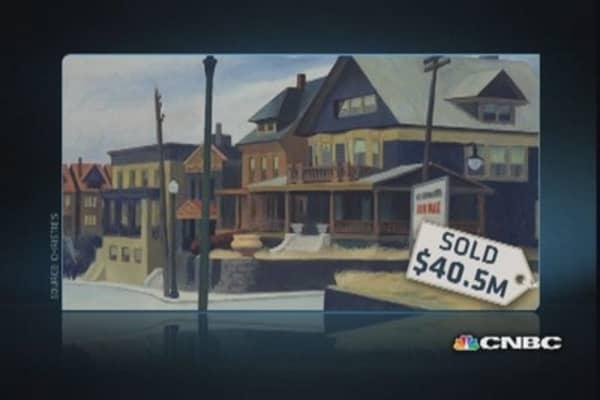 Hopper painting beats estimates