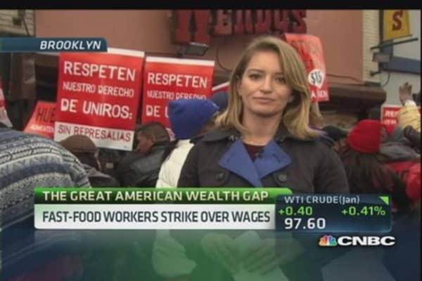 Fast-food workers strike