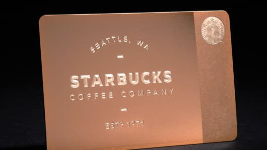 The 2013 rose-gold gift card