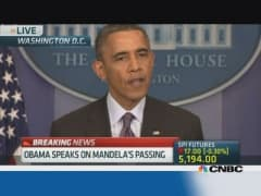 Obama: Mandela now belongs to the ages