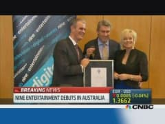Australia's Nine Entertainment makes modest debut