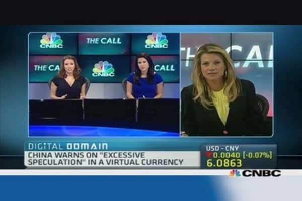 China warns on bitcoin speculation