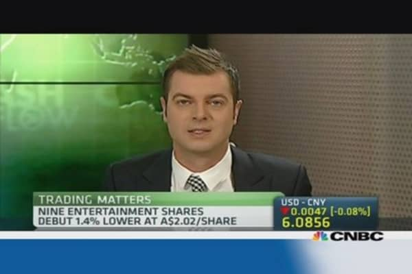Nine Entertainment slips on ASX debut