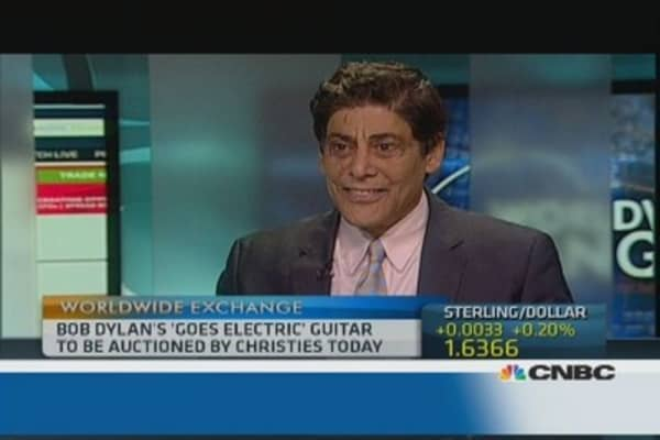 Bob Dylan's electric guitar: a good investment?