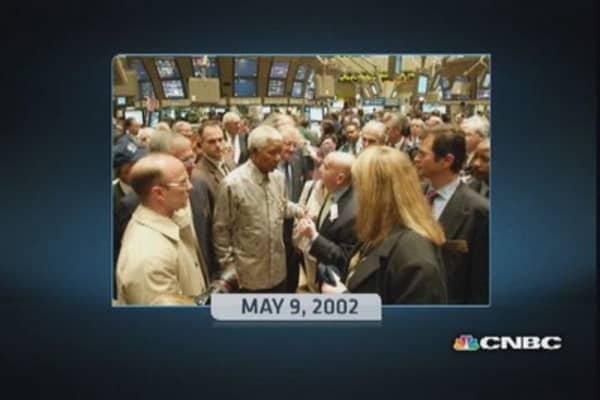 NYSE honors Nelson Mandela