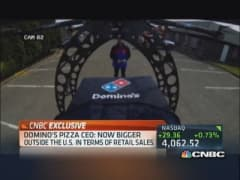 Domino's CEO: Our drone 'much cooler' than Amazon's