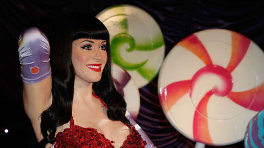The wax figure of Katy Perry is seen displayed at Madame Tussaud's Sydney on September 24, 2013 in Sydney, Australia.