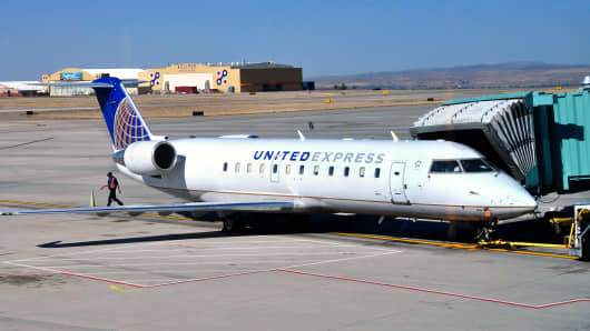 File Photo of a United Express Jet plane.