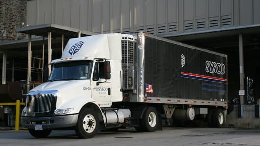 A Sysco Corp truck.