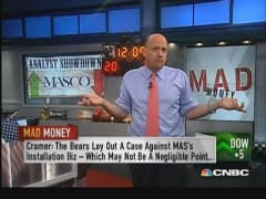 Bears wrong about Masco: Cramer