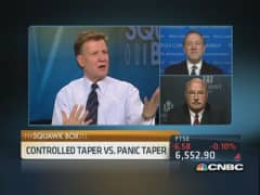Controlled taper vs. panic taper