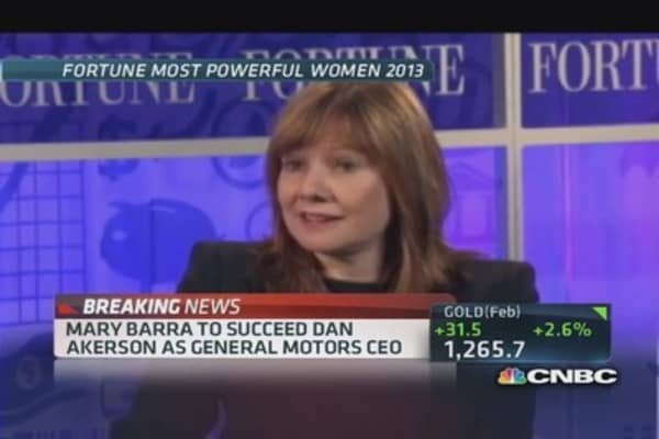 Mary Barra to succeed Akerson as GM CEO