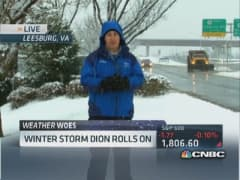 Winter storm rolls through Northeast