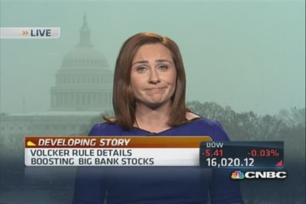 Volcker Rule not as tough as expected