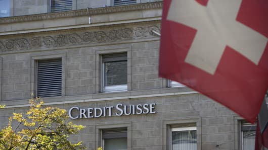 Credit Suisse bank in Zurich, Switzerland.