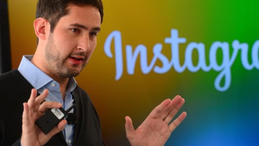 Instagram co-founder Kevin Systrom at Instagram Direct unveiling in December 2013.