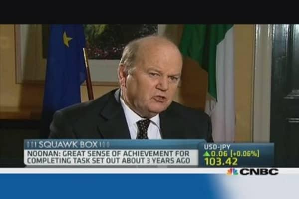 Irish finance minister: 'Great sense of achievement'