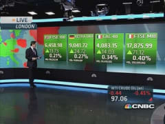 Global markets: European shares higher