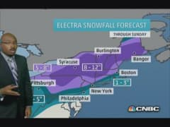 Snowstorm arriving for the weekend
