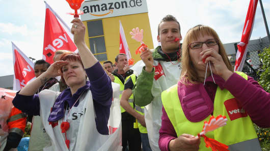 Amazon workers in Germany.