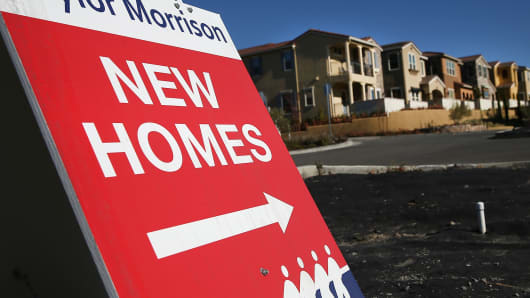 New homes for sale at a housing development in Dublin, Calif., on Dec. 4, 2013.