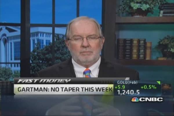No taper this week: Gartman