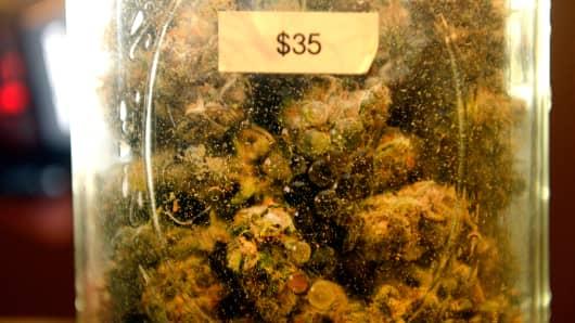 The Juicy Fruit strain of marijuana for sale at 3-D Denver Discreet Dispensary in Denver, Colorado, December 04, 2013.