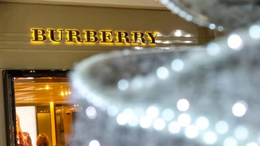 Burberry store at London's Heathrow Airport