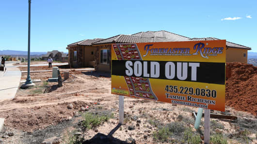 A sold out housing development in St. George, Utah.