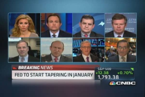 Santelli: Wasn't a taper, just a 't'