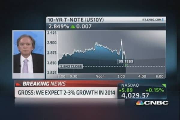 Bill Gross: Expect 2-3% economy next year