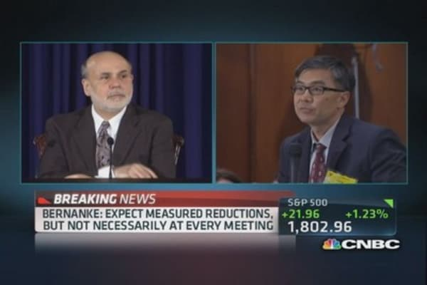 Bernanke: Quantitatively, ending benefits not economically large