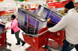 Shoppers at a Target store during the Black Friday weekend, Chicago, Thursday, Nov. 28, 2013.