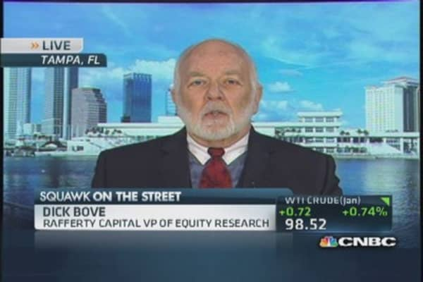 It's a perfect environment for banks: Bove